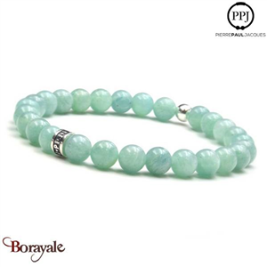 Amazonite: Bracelet Pierres fines 6 mm PPJ Taille S