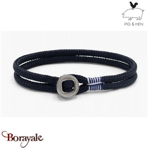 Bracelet PIG AND HEN, Don Dino  navy-silver L (20cm)