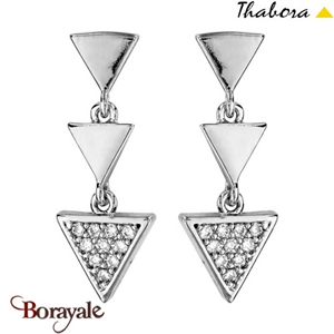 Boucles d'oreilles THABORA multi triangles T018312