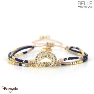bracelet -Belle mais pas que- collection Winter Deep Blue B-1797-WDEEP