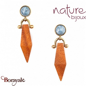 Collection Wood Diamonds, Boucles d'oreilles Nature Bijoux 12--73903
