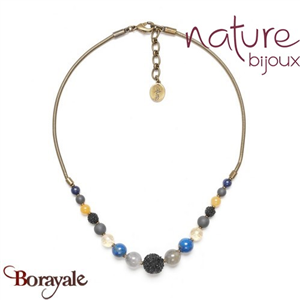 Collection Blue Tribe, Collier Nature Bijoux 15--40921