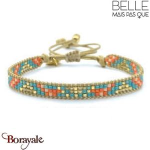 "Bracelet ""Belle mais pas que"" Collection Golden Caraïbes B-1269-GC"