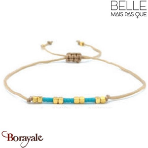 "Bracelet ""Belle mais pas que"" Collection Gold Bora Bora B-1364-GBB"