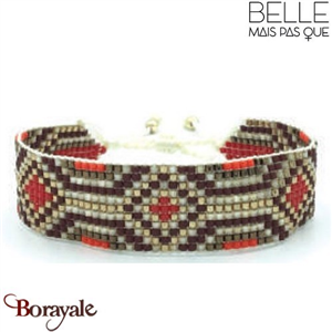 "Bracelet ""Belle mais pas que"" collection Golden rouge B-947-GRO"