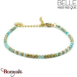 "Bracelet ""Belle mais pas que"" collection Golden Blue Lagoon BNA-10-GBL"