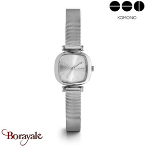 Montre KOMONO Collection MONEYPENNY ROYALE SILVER KOM-W1240