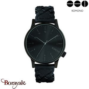 Montre KOMONO Collection WINSTON WOVEN ALL BLACK KOM-W2034
