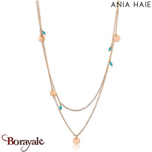 Connect The Dots, Collier Argent plaqué Or rose N006-01R
