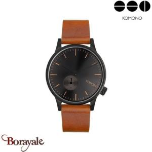 Montre KOMONO Collection WINSTON SUBS BLACK COGNAC KOM-W3005
