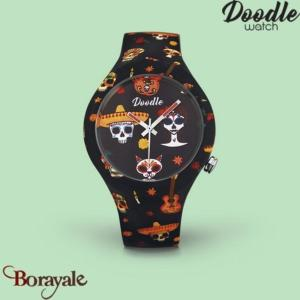Montre DOODLE CALAVERAS MOOD ORANGE Ø39mm