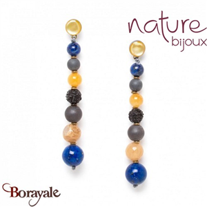 Collection Blue Tribe, Boucles d'oreilles Nature Bijoux 12--74189