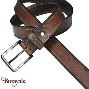 Ceinture KASZER collection Indiana en cuir de buffle 578004-C6