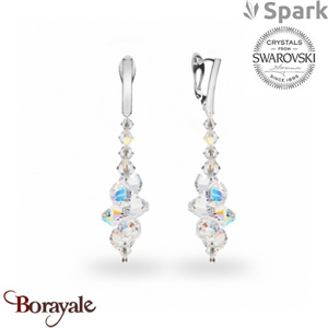 Boucles d'oreilles SPARK collection bicone made with Swarovski Elements A52AB