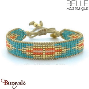 "Bracelet ""Belle mais pas que"" Collection Golden Caraïbes B-1008-GC"