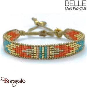 "Bracelet ""Belle mais pas que"" Collection Golden Caraïbes B-1194-GC"