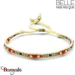 "Bracelet ""Belle mais pas que"" collection Golden rouge B-989-GRO"