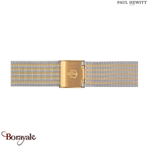 Bracelet de montre PAUL HEWITT Mesh Bicolor Or Argenté 16 mm PH-M1-GS-44S