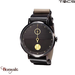 Montre  TACS Day & Night Unisexe Noir - Or