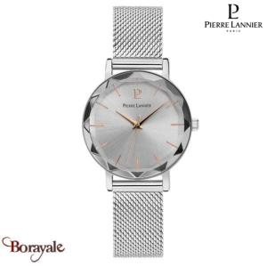 Montre PIERRE LANNIER Collection MULTIPLES argenté milanais Femme