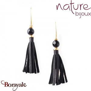 Collection Black Light, Boucles d'oreilles Nature Bijoux 12--76916