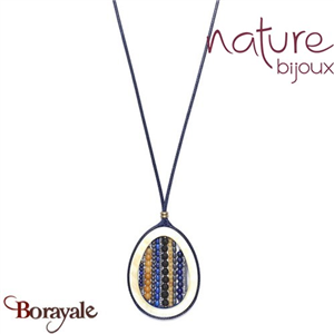 Collection Blue Tribe, Collier Nature Bijoux 15--40915
