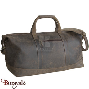 Sac de voyage - sport KASZER collection Kansas en cuir de buffle marron 21203-C6