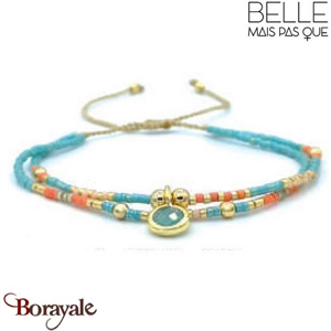 "Bracelet ""Belle mais pas que"" Collection Golden Caraïbes B-1271-GC"