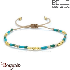 "Bracelet ""Belle mais pas que"" Collection Gold Bora Bora B-1363-GBB"