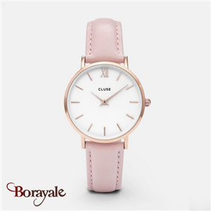 Montre Cluse Minuit Rose Gold White/Pink CL30001-CW0101203006