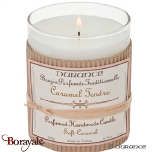 Bougie traditionnelle DURANCE 180g Caramel tendre