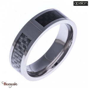 Bague fibre de carbone, Collection: Homme APOLLON Taille 70