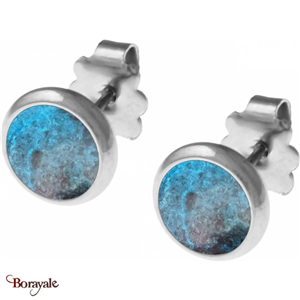 Boucles d'oreilles Chrysocolle, Collection: Cabochon YOLA