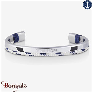 Bracelet Tom Hope Hybrid Cuff, Silver-White-Blue: Taille M