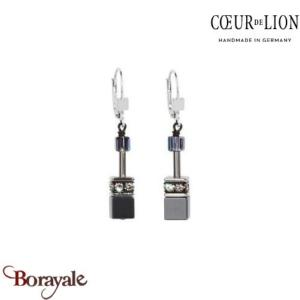 Nuance : 1412, Boucles d'oreilles Cœur de lion with SWAROVSKI Elements Hématite