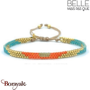 "Bracelet ""Belle mais pas que"" Collection Golden Caraïbes B-1370-GC"