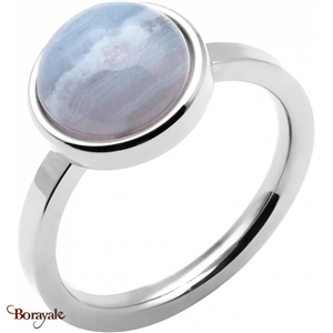 Bague agate blue lace, Collection: Cabochon YOLA Taille 56