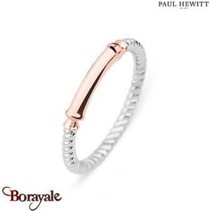 Bague Starboard Acier & IP Rose - Taille 50  PAUL HEWITT Collection Starboard PH