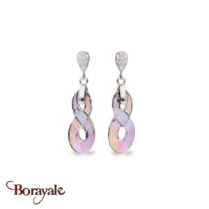 Boucles d'oreilles spark bijoux made with swarovski elements a449ps